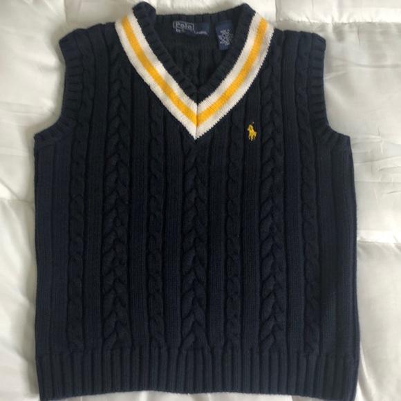 aa492e0f0 7 POLO Ralph Lauren Cotton Knit Vest Preppy NWOT. M 5c2968852e1478633c7f2ffb